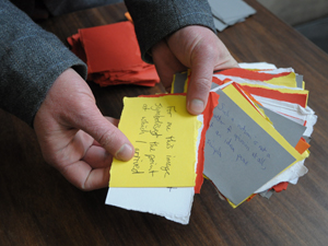 Nathan jones 'pick a card' from FACT performance. photo @ Minako Jackson
