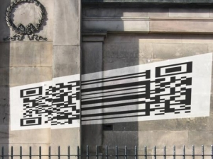 Augmented Reality with Anamorphic QR Codes?!